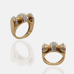 BAGUE DONATELA DIAMANTS PLATINE/OR 18K