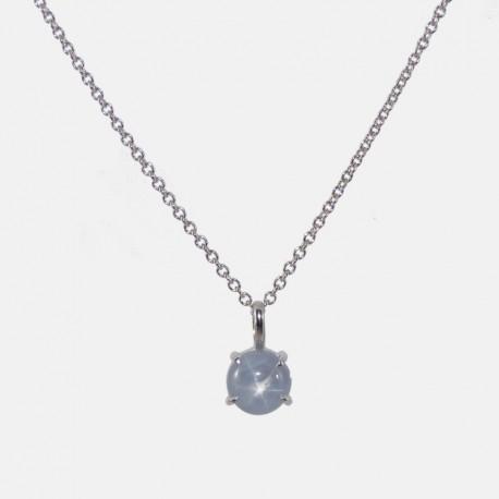 Blue star sapphire pendant anne defromont etoile pendant mozeypictures Choice Image