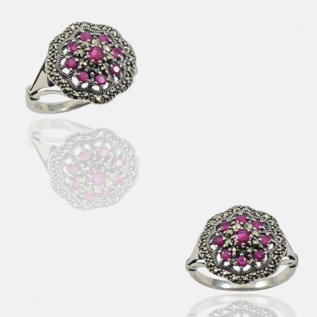 PETUNIA RING STERLING SILVER
