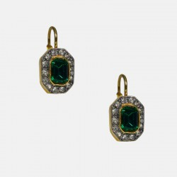 DORMEUSES EARRINGS STERLING SILVER GILT