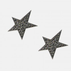 STAR EARRINGS STERLING SILVER