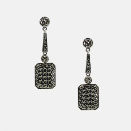 MARCASSITES EARRINGS STERLING SILVER