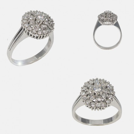 BOUQUET RING 18K WHITE GOLD