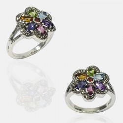 TUTTI FRUTTI RING STERLING SILVER