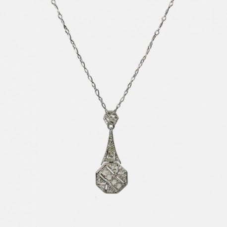 1930 NECKLACE 18k GOLD/PLATINUM