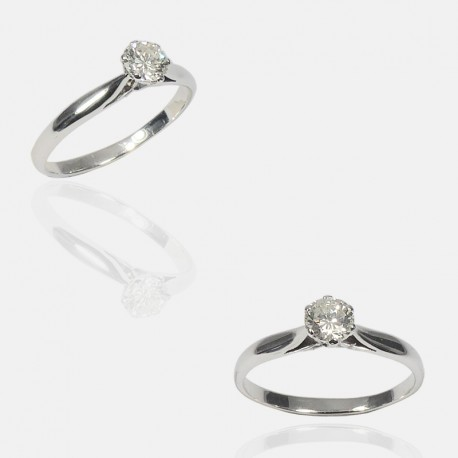 SOLITAIRE RING DIAMOND/18K GOLD