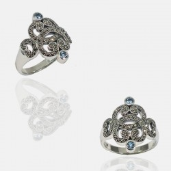 ARABESQUE RING STERLING SILVER