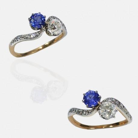 TOI & MOI DIAMONDS RING GOLD/PLATINUM