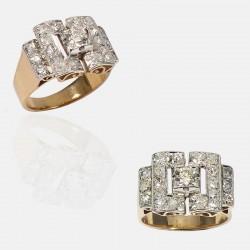 COLOMBE RING DIAMONDS GOLD/PLATINUM