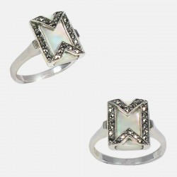 DOUBLE M RING STERLING SILVER