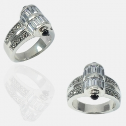 CYLINDRE RING STERLING SILVER