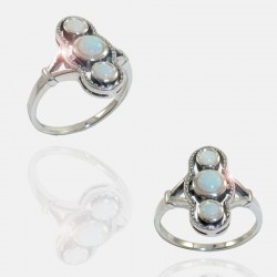 TRIOPALE RING STERLING SILVER
