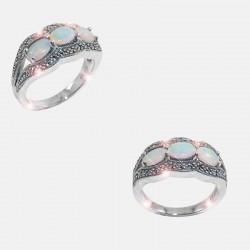 BOREALE RING STERLING SILVER