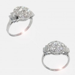 BAGUE VENUS DIAMANTS PLATINE