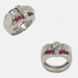 BAGUE YUKKA DIAMANTS PLATINE