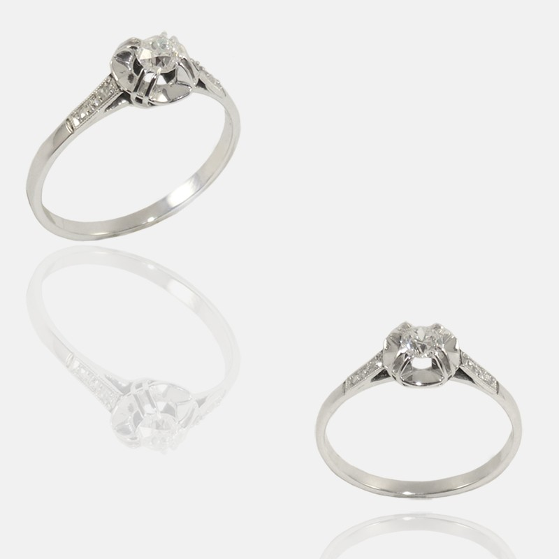 Top Bague solitaire ancienne diamants – Anne DEFROMONT IR25