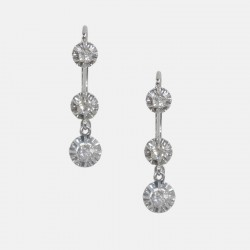 BOUCLES D'OREILLES TREMBLEUSES DIAMANTS OR/PLATINE