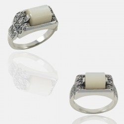 FIFTY RING STERLING SILVER
