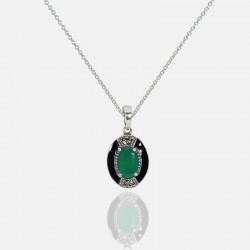 AGATA NECKLACE STERLING SILVER